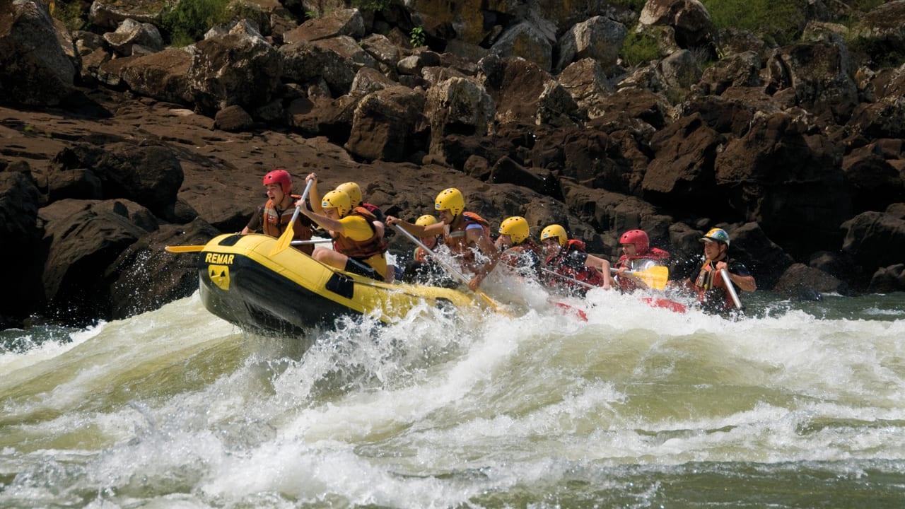Rafting in Iguassu River, Brazil