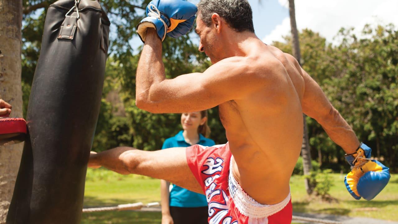 Thai boxing lessons at Belmond Napasai