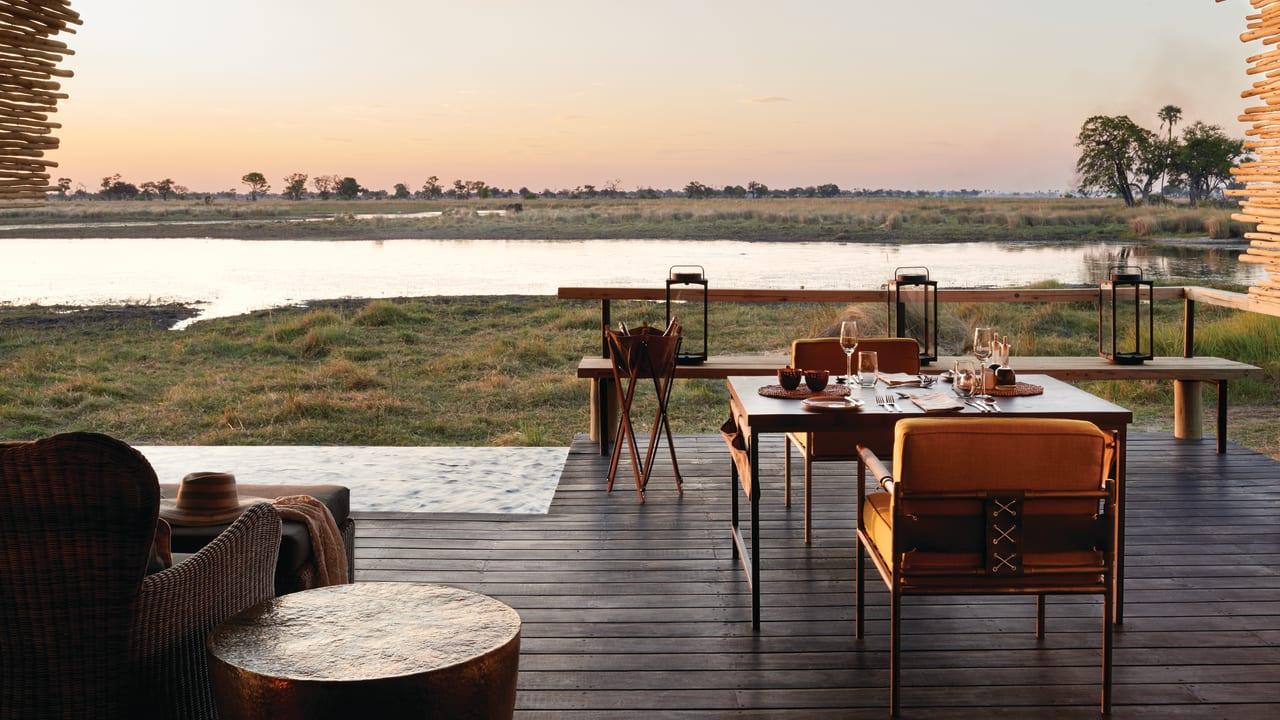 Sunset with wine on Safari