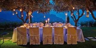 wedding banquet table on the amalfi coast