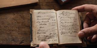 Old Handwritten Book Detail, Belmond Cipriani