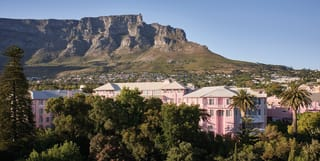 exterior shot of belmond mount nelson hotel in cape town