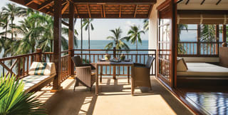 oceanfront beach villa in koh samui thailand