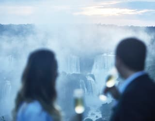 private dining with champagne at iguassu falls