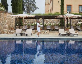 Belmond Castello di Casole pool terrace