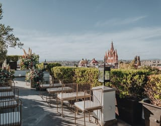 The rooftop wedding venue
