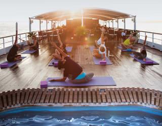 Yoga on the Ayeyarwady