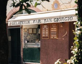 Exterior of gelateria san giorgio in portofino