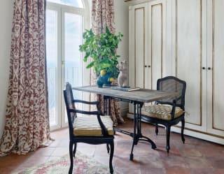 Elegant desk in a glamorous Italian villa