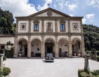 Fiat Musone parked in front of Villa san Michele