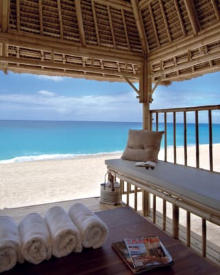 Private beach cabana package