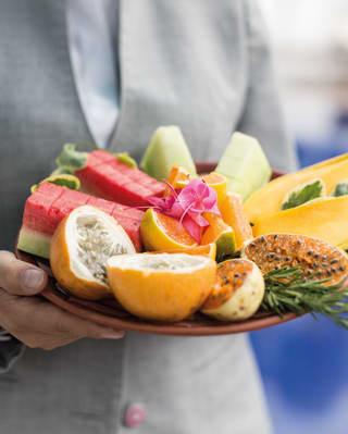 Belmond Palacio Nazarenas fruit cart