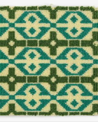 Close up of a geometric pattern fabric