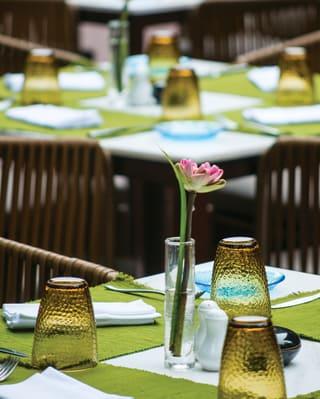 Ember Restaurant in Siem Reap, table setting