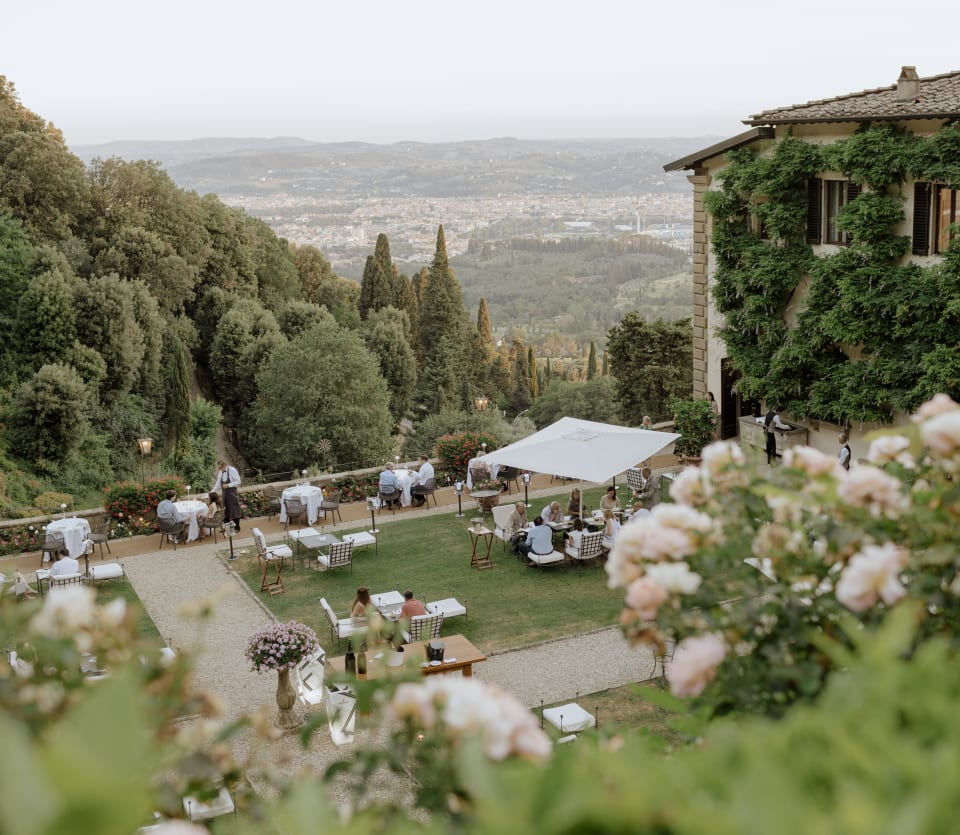 Garden of Vila san Michele a Belmond hotel with a view of Florence